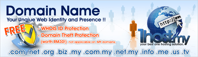 1host.my Domain Registration