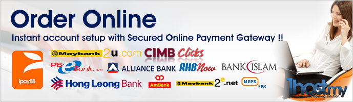Instant account setup with Secured Online Payment Gateway !!